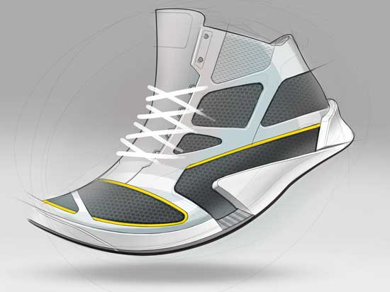 tennis running shoe sketch concept industrial product design