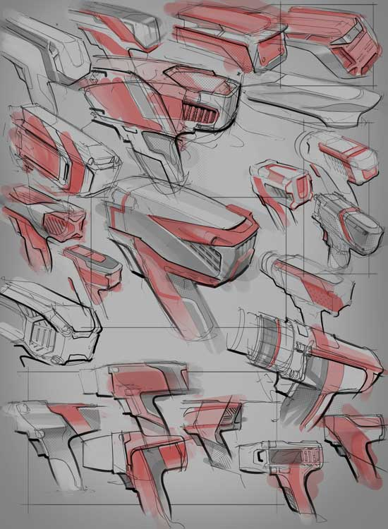 1-drill-rough-scribble-sketch-concept-industrial-design-collage-power-tool