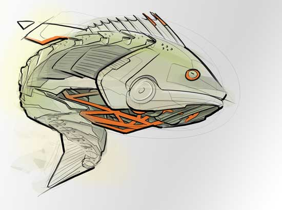 bass-fish-robot-concept-art-sketch-photoshop-animal-mech-futuristic-drawing-industrial-design-tmb