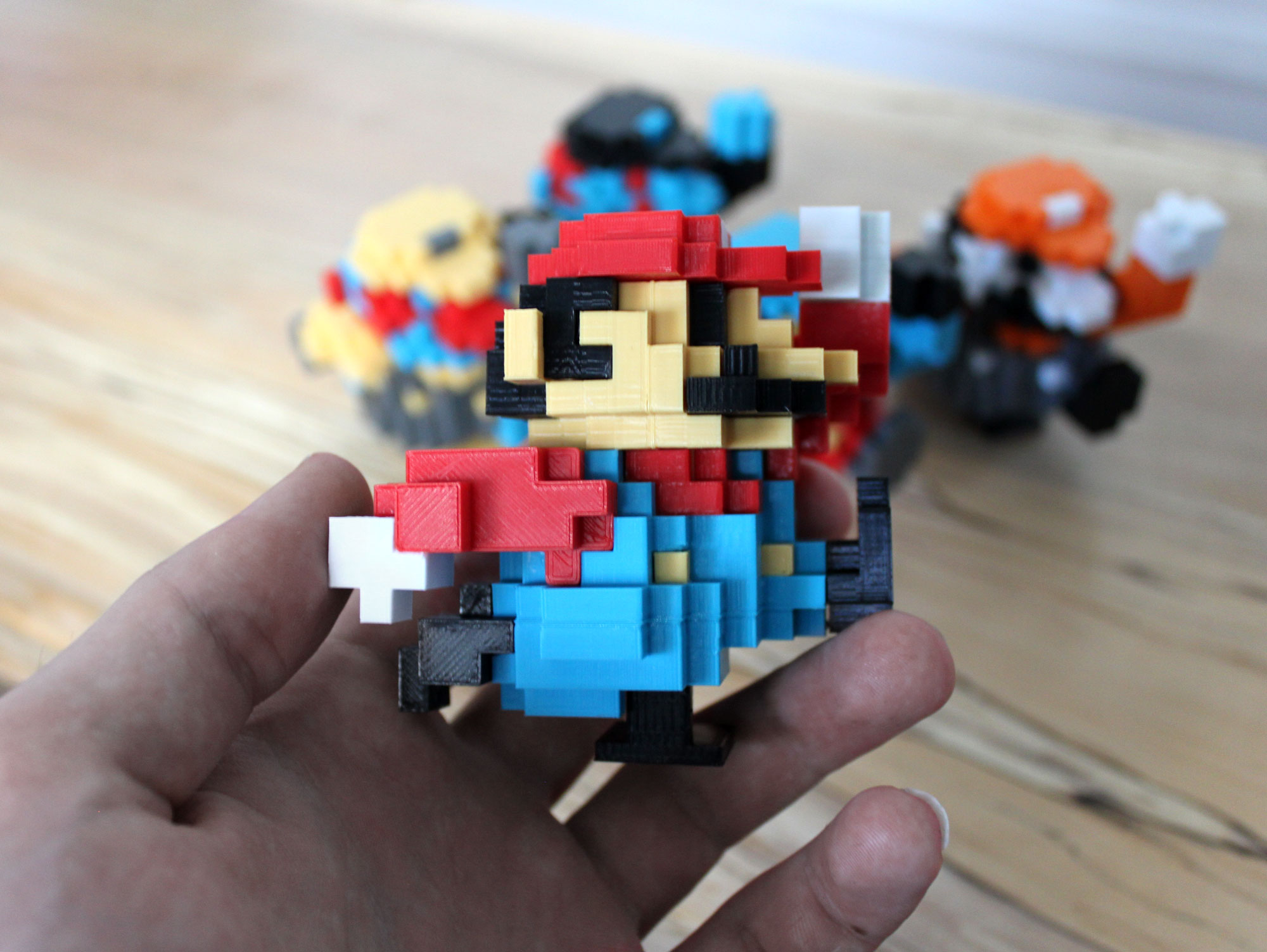 color options 2 3d printed super mario nintendo 8 bit retro print classic
