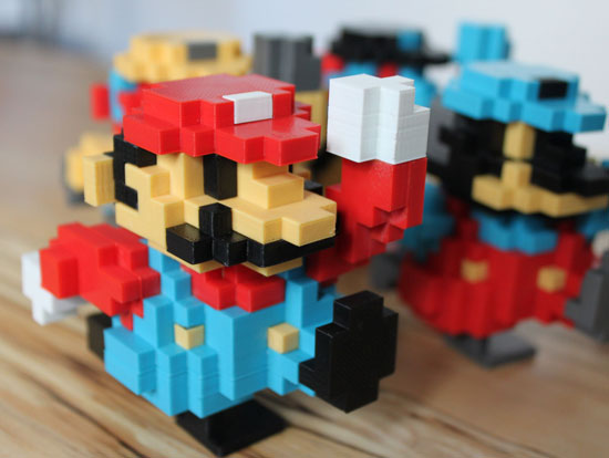3D Printed Retro Mario Figure