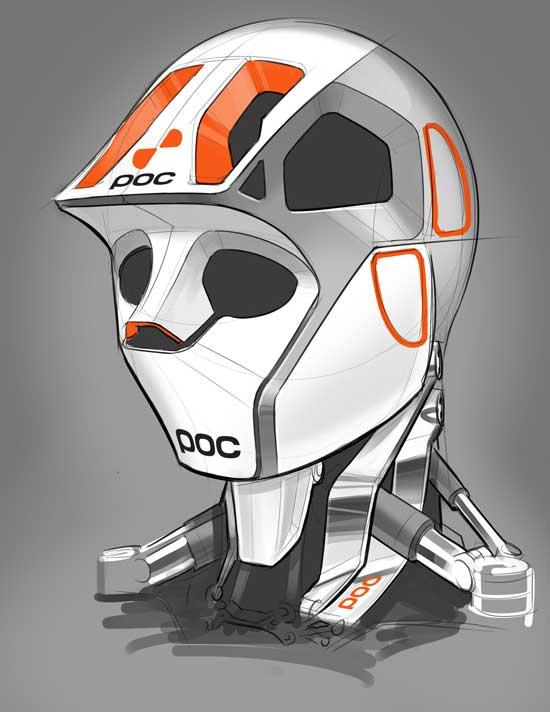 tmb poc helmet robot concept digital art mech marchofrobots android sketch render